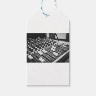 Audio Black And White Black White Concert Console Gift Tags