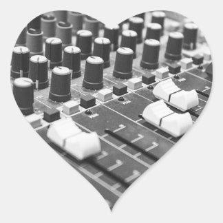 Audio Black And White Black White Concert Console Heart Sticker