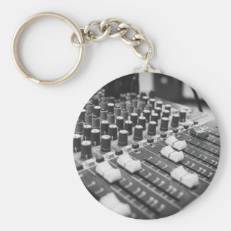 Audio Black And White Black White Concert Console Keychain