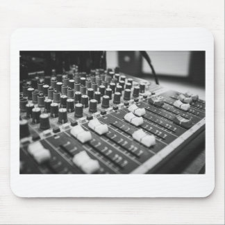 Audio Black And White Black White Concert Console Mouse Pad
