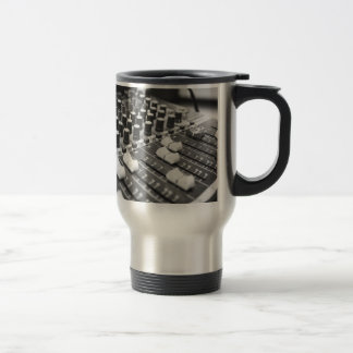 Audio Black And White Black White Concert Console Travel Mug