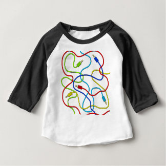 Audio cables baby T-Shirt