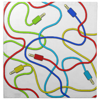 Audio cables napkin