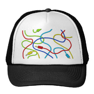 Audio cables trucker hat