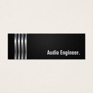 Audio Engineer - Black Silver Stripes Mini Business Card