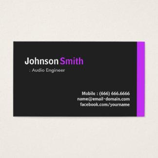 Audio Engineer - Modern Minimal Purple Business Card