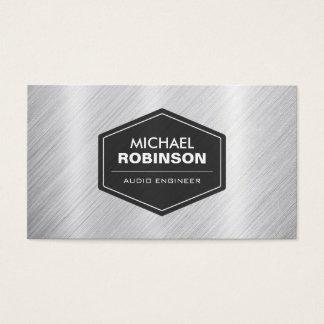 Audio Engineer - Silver Metallic Look Business Card