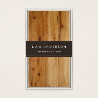 Audio Engineer - Stylish Wood Texture Business Card