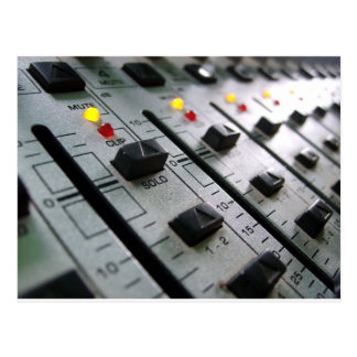 Audio Mixer Postcard