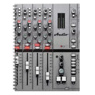 """Audio Mixer """"Take Sheet"""" Notebook"""
