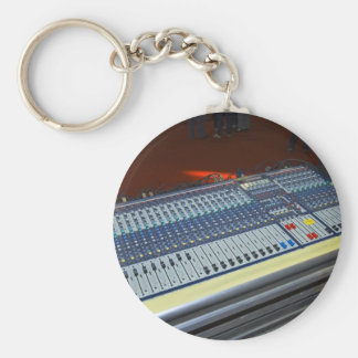 audio mixing console - sound board basic round button keychain