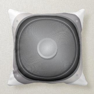 Audio speaker throw pillow