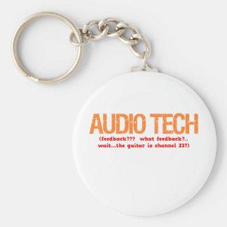 Audio Tech Description Basic Round Button Keychain