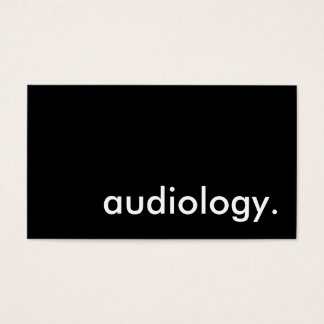 audiology. business card
