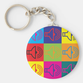 Audiology Pop Art Keychain