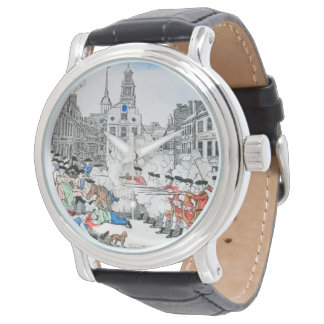 audiophiliacs.com BOSTON MASSACRE watch (white)
