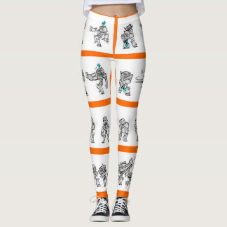 AUDIOPHILIACS.COM Gamer Girl Robots leggings