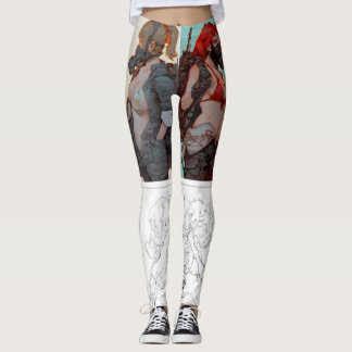 AUDIOPHILIACS.COM handpainted anime joggers Leggings