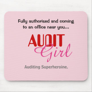 Audit Girl Funny Female Auditor Superheroine Mouse Pad