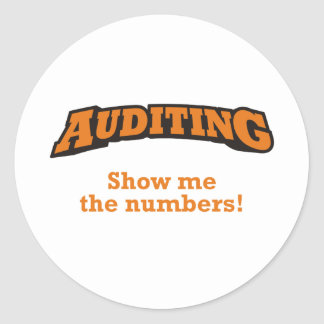 Auditing / Numbers Classic Round Sticker