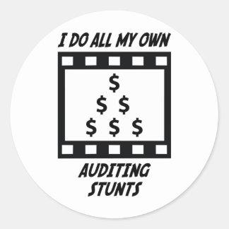 Auditing Stunts Classic Round Sticker