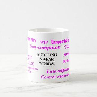 Auditing Swear Words Funny Female Auditor Joke Mug