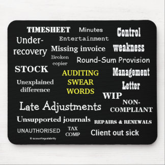 AUDITING SWEAR WORDS Rude Auditing Terms Mousepad