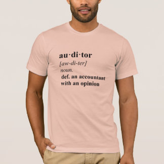 Auditor Definition - Summer Peach T-Shirt