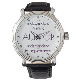"""""""Auditor: Independent in Mind & Appearance"""" Wrist Watches"""
