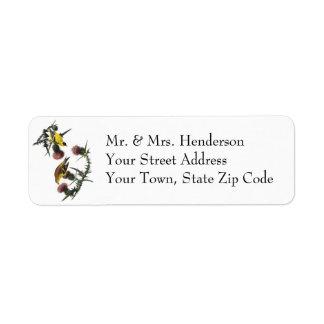 Audubon American Goldfinch Return Address Label