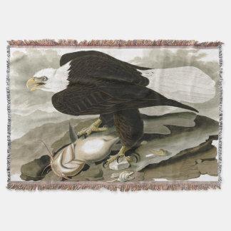 Audubon Bald Eagle Bird Wildlife Throw Blanket