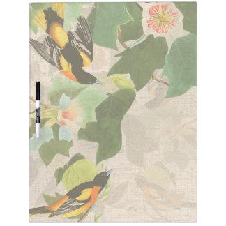 Audubon Bird Wildlife Animal Floral Erase Board Dry Erase White Board