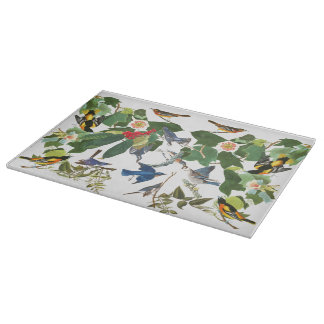 Audubon Birds Wildlife Animal Floral Cutting Board