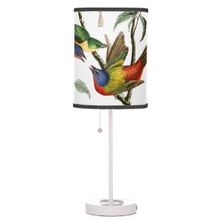 Audubon Birds Wildlife Animals Collage Table Lamp