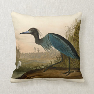Audubon Blue Crane Heron Birds of America Throw Pillow