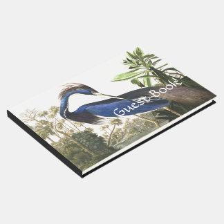 Audubon Blue Heron Bird Wildlife Guest Book