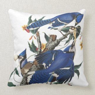 Audubon Blue Jay Birds Wildlife Throw Pillow