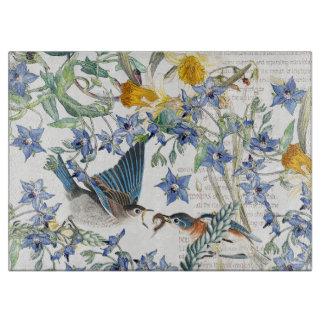 Audubon Bluebird Bird Floral Cutting Board