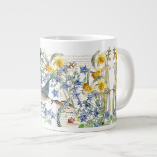 Audubon Bluebird Bird Narcissus Flowers Mug