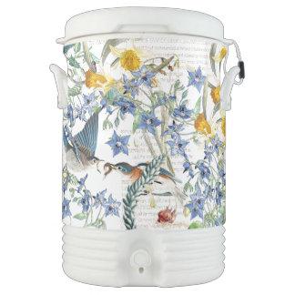 Audubon Bluebird Bird Wildlife Floral Igloo Cooler
