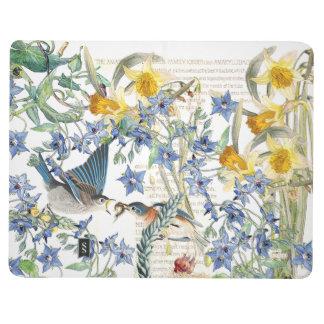 Audubon Bluebird Birds Floral Journal