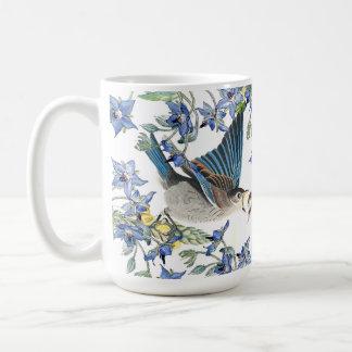 Audubon Bluebird Birds Narcissus Flowers Mug