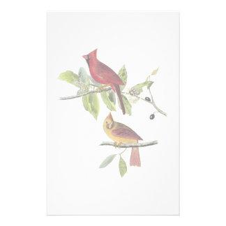 Audubon Cardinal Stationery