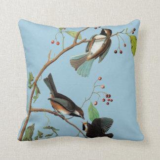 Audubon: Chickadee Throw Pillow
