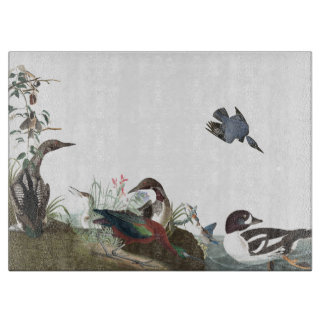 Audubon Collage Bird Wildlife Animal Cutting Board