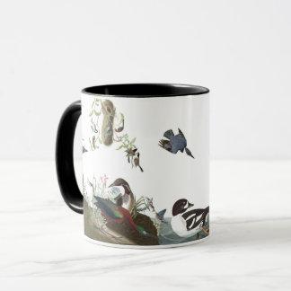 Audubon Collage Birds Wildlife Ocean Mug