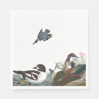 Audubon Collage Birds Wildlife Paper Napkins