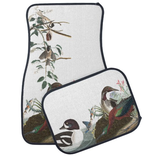 Audubon Collage Loons Bluebird Bird Car Floor Mats Floor Mat