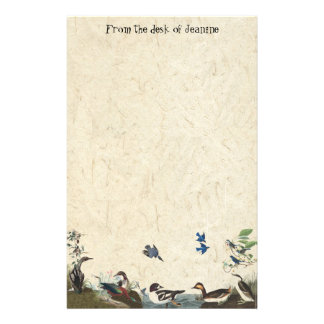 Audubon Collage of Birds Handmade Paper Stationery