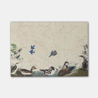 Audubon Collage of Birds Wildlife Post It Notes